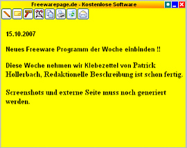 Klebezettel Screenshot 1
