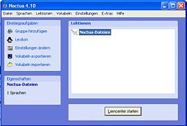 Noctua_Vokabeltrainer Screenshot 1